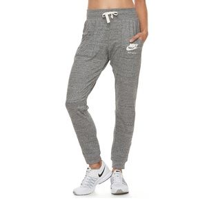 NIKE Gray 'Vintage' Sweatpants